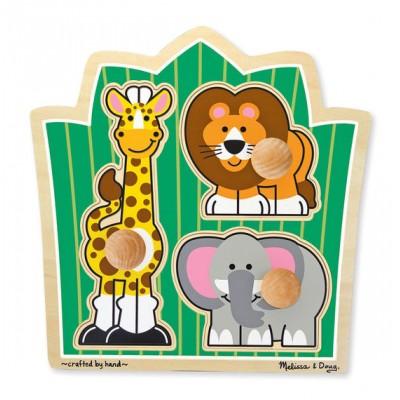 Casse-tête de bois: safari avec poignées