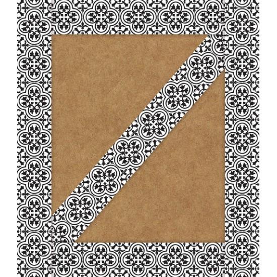 Bordure décorative: Tuile noir et blanc