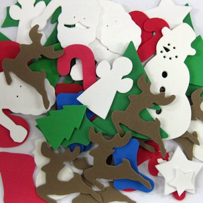 Formes en mousse : Noël