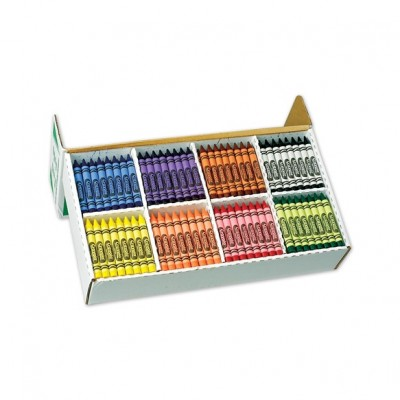 Crayons de cire crayola 8 couleurs x 50