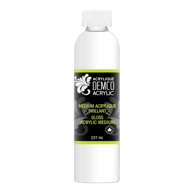 Médium acrylique brillant ou mat : 120ml.