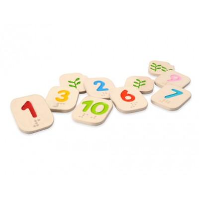 Nombre braille 1 à 10