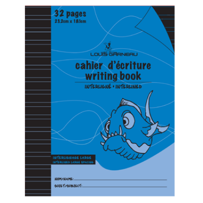 Cahier d'écriture interligné large: 32 pages