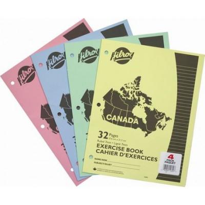 Cahiers Canada pqt de 4 : 32 pages.