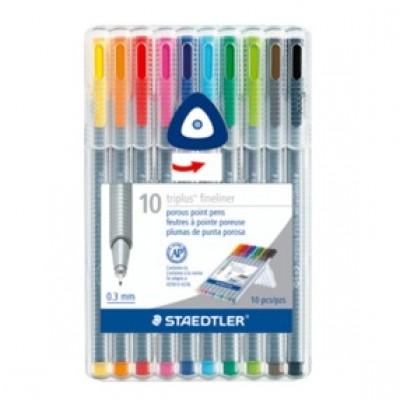 Ensemble de 10 stylos triplus