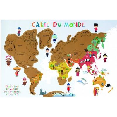 Carte du Monde à Gratter Enfant