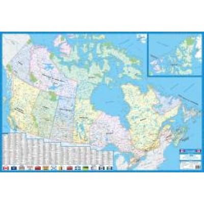 Carte du Canada 27x39po