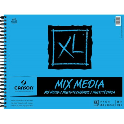 Cahier XL Mix-Media : 14x17""