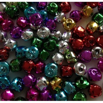 """Grelots 1/4"""" Multicolor /100 pièces"""