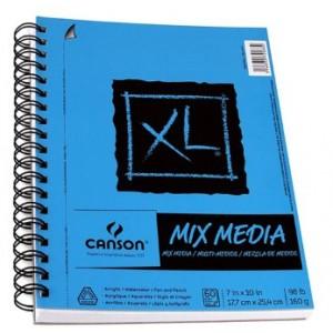 "Cahier XL Mix-Media : 7x10"""