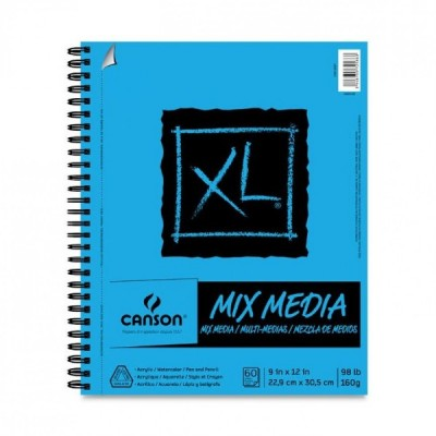 "Cahier XL Mix-Media : 9x12"""