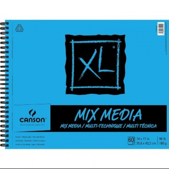 "Cahier XL Mix-Media : 14x17"""