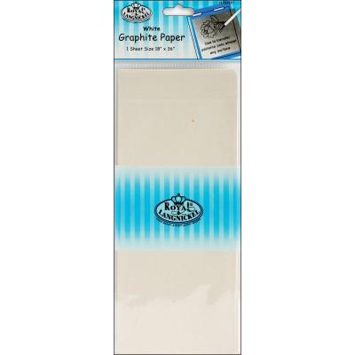 Papier Graphite Blanc 18x36''
