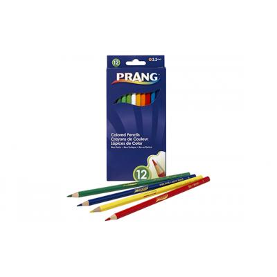 Ensemble de Crayons de Couleur en Bois: 12