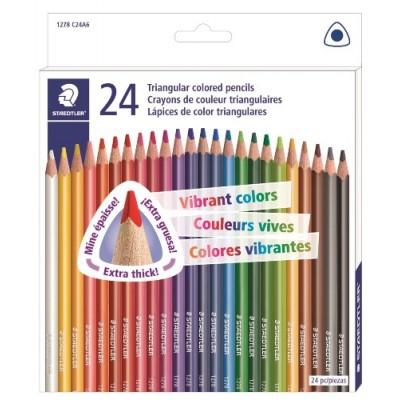Crayons de Couleurs Triangulaires Staedtler/24