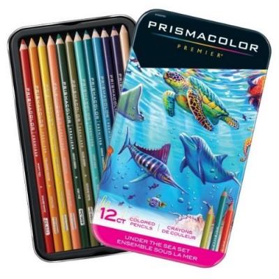 Ensemble 12 Crayons Prismacolor - Sous La Mer