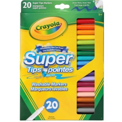 Ensemble de Marqueurs Lavables, Super Pointes Crayola : 20
