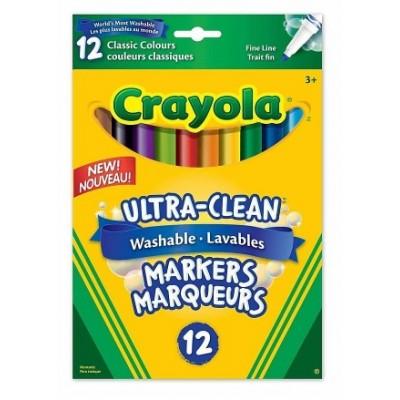 Ensemble de Marqueurs Lavables, Pointe Fine Crayola : 12