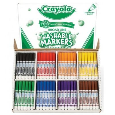 Ensemble de Marqueurs Lavables Crayola, Pointe Large : 200 (8 coul.)