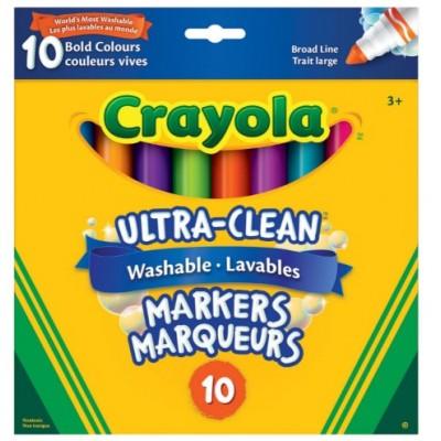 Ensemble de Marqueurs Lavables, Pointe Large Crayola : 10