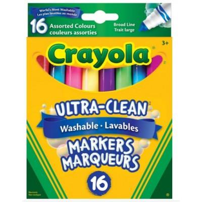 Ensemble de Marqueurs Lavables, Pointe Large Crayola : 16