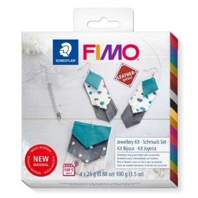 Fimo - Ensemble Bijoux Effet Cuir