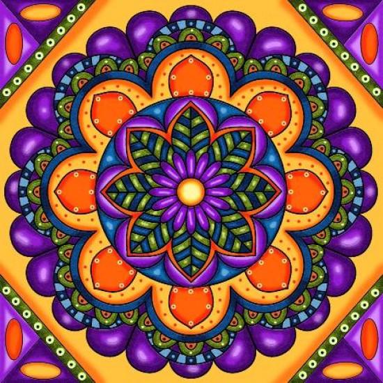 Diamond Art Jacarou - Mandala Violet