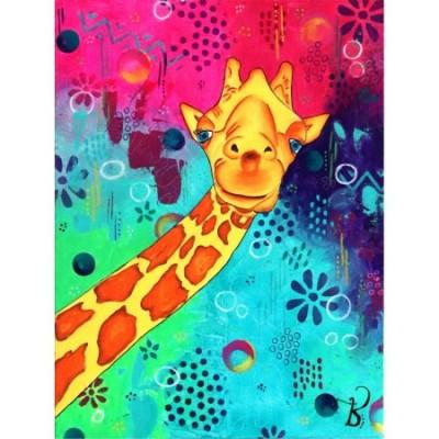 Diamond Art Jacarou - Sourire d'une Girafe