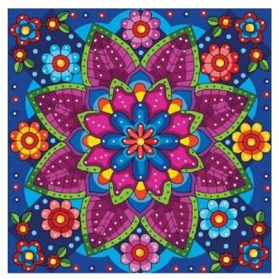 Diamond Art Jacarou - Mandala Fleuri