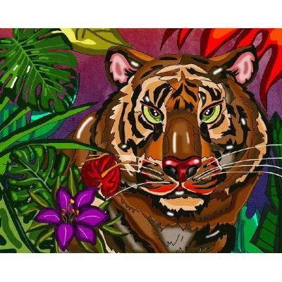 Diamond Art Jacarou - Tigre
