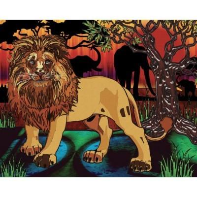 Diamond Art Jacarou - Lion