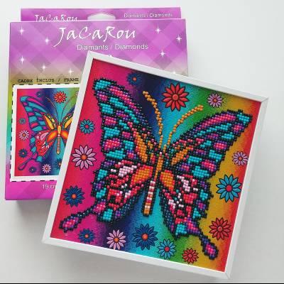 Diamond Art Jacarou en Cadre 8x8'' - Papillon