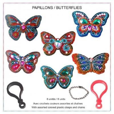 Diamond Art Jacarou - Porte-clés Papillons