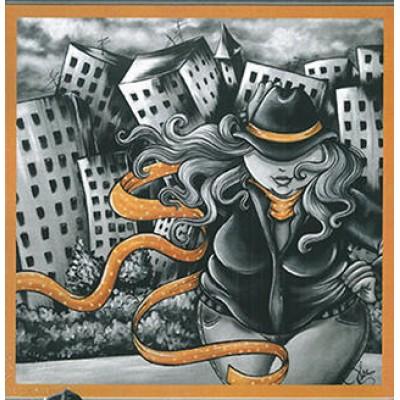 Patron Peinture: Fille de ville (Isabelle Desrochers)