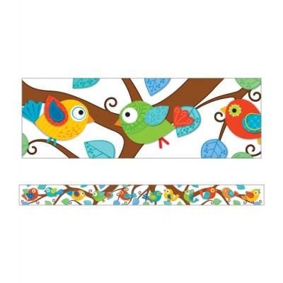Bordure : Oiseaux Boho