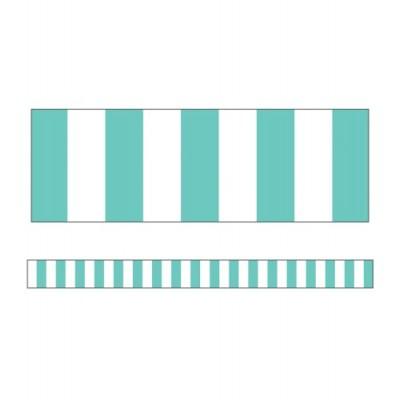 Collection Schoolgirl Style - Bordure : Rayures Turquoises