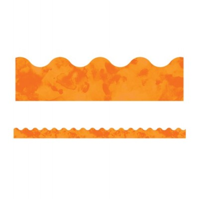 Collection Galaxy : Bordure - Orange Aquarelle