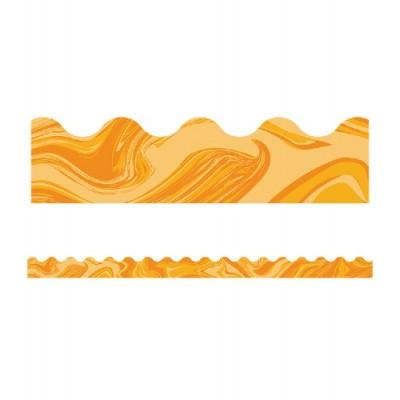 Collection Galaxy : Bordure - Orange Marbré