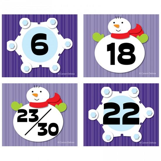 Dates pour Calendrier : Flocon et Bonhomme de neige