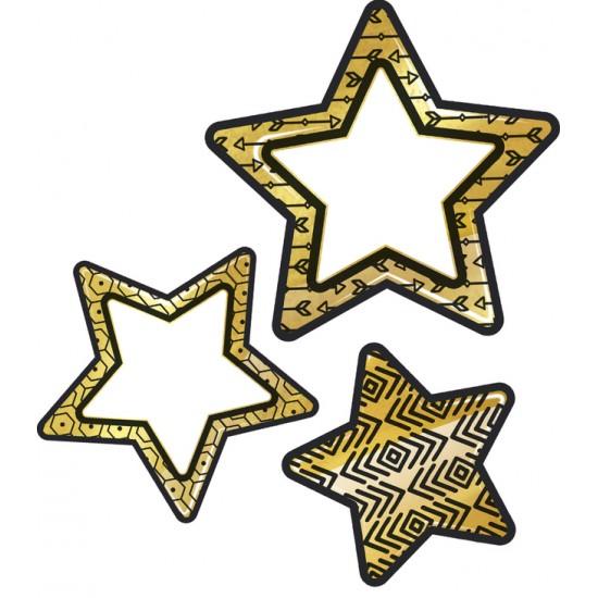 Décoration : Étoiles Noires et Or