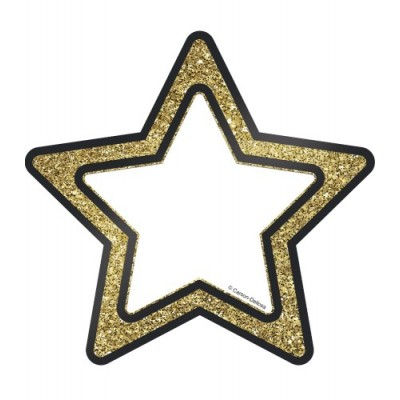 Décoration : Étoiles Scintillantes Or