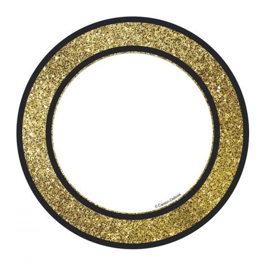 Décoration : Cercles Scintillants Or