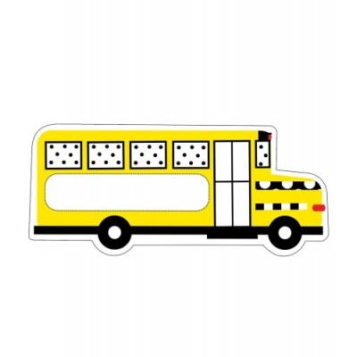 Collection Schoolgirl Style : Décorations Cartonnées 15 cm - Autobus Scolaire