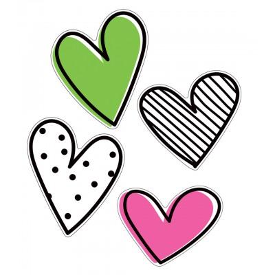 Collection Kind Vibes : Décorations Cartonnées 30 cm - Coeurs