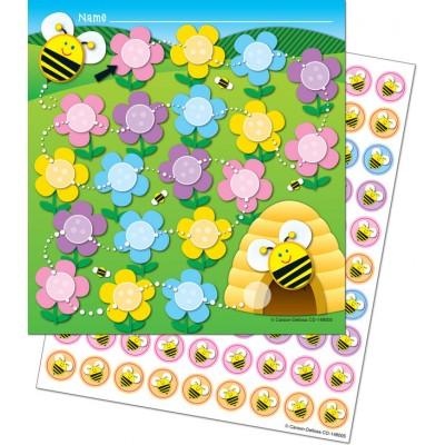 Cartes de Motivation : Abeilles et Fleurs