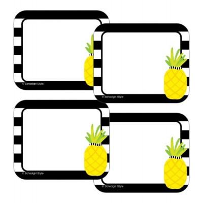 Collection Schoolgirl Style - Étiquettes de Nom Autocollantes : Ananas
