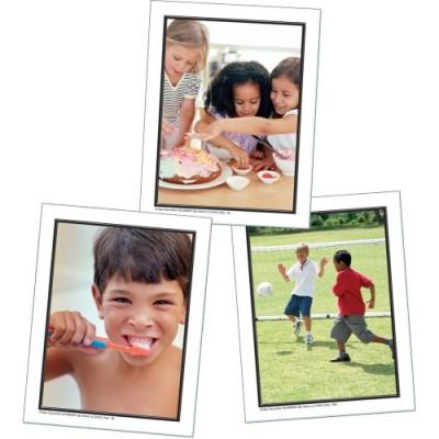 Cartes Éclairs : Actions dans la Journée d'un Enfant