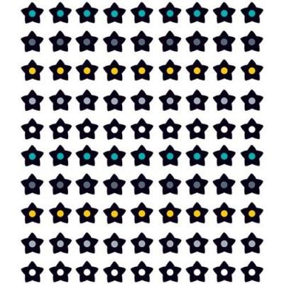 Autocollants : Mini Étoiles Noir et Blanches/810