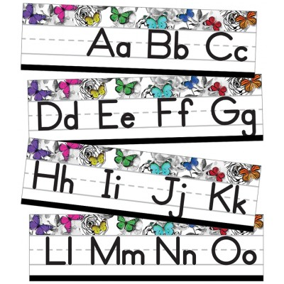 Collection Woodland Whimsy : Bordure Alphabel Script