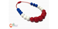 Mâchouille collier : collier tricolor